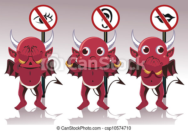 See no evil hear no evil speak no evil - csp10574710