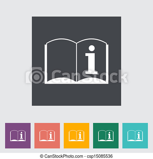 See owners manual single icon vector illustration eps vectors see owners manual publicscrutiny Images