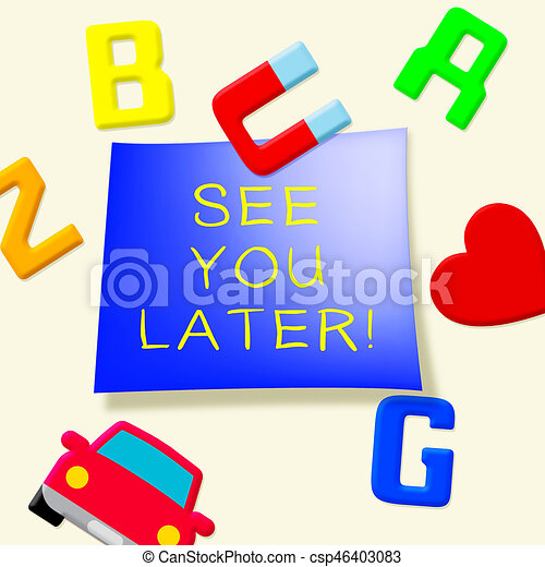 see you later representing good bye 3d illustration see you rh canstockphoto com