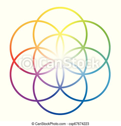 Seed Of Life Flower Of Life Rainbow Colored