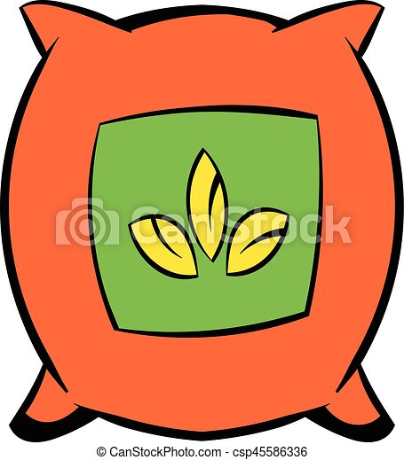seeds bag icon cartoon seeds bag icon in cartoon style vectors rh canstockphoto com vegetable seed packets clipart seed packets clipart