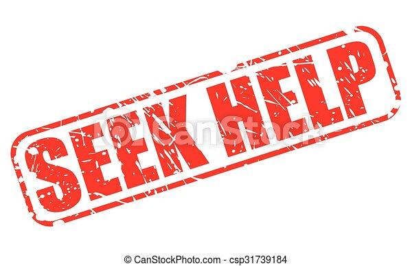 SEEK HELP red stamp text - csp31739184