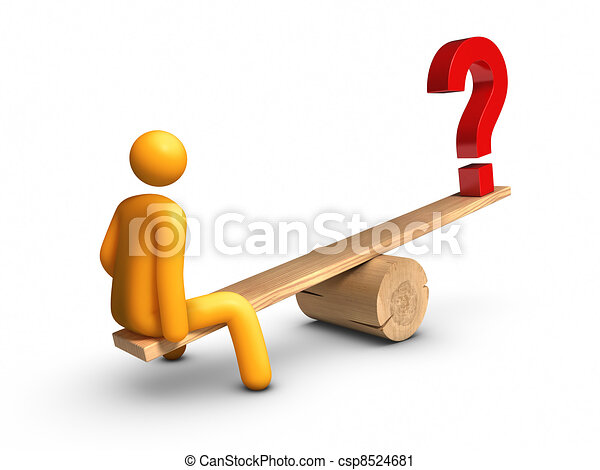 Seesaw - Question Mark - csp8524681