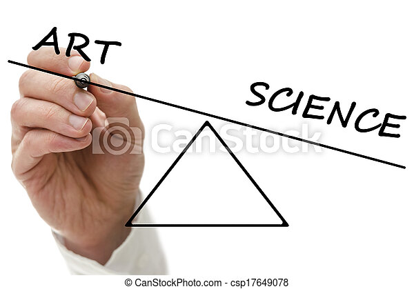 Seesaw Showing An Imbalance Of Art And Science Seesaw Showing An