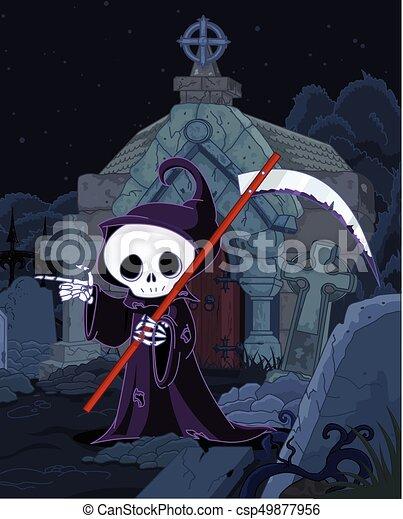 La parca de Halloween - csp49877956