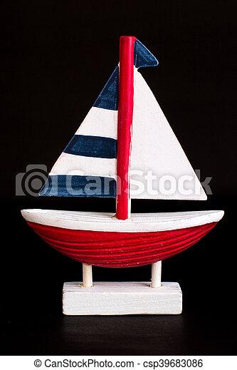 Segelboot zeichnung schwarz  Segelboot, schwarz, freigestellt, hintergrund. Segelboot ...