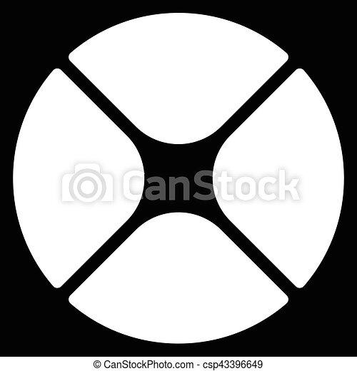 Segmented Circle Cross Hair Target Symbol Chart Template Eps