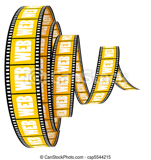 segmento, parola, film, web - csp5544215