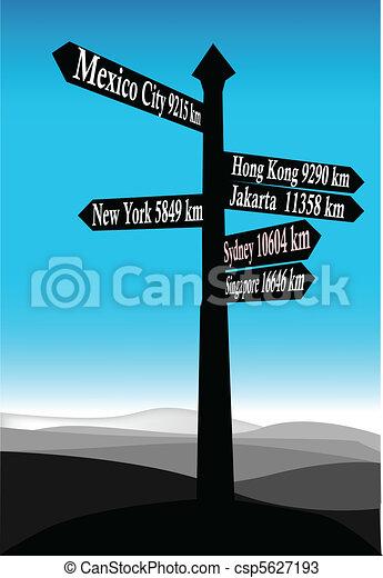 segnale direzione - csp5627193