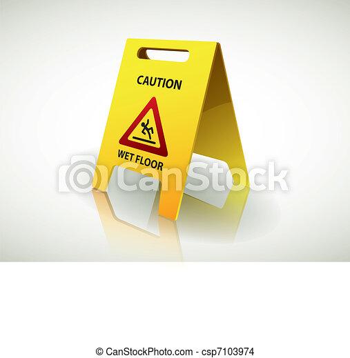 Segno attenzione, -, pavimento bagnato vettore eps - Cerca Clip Art ...