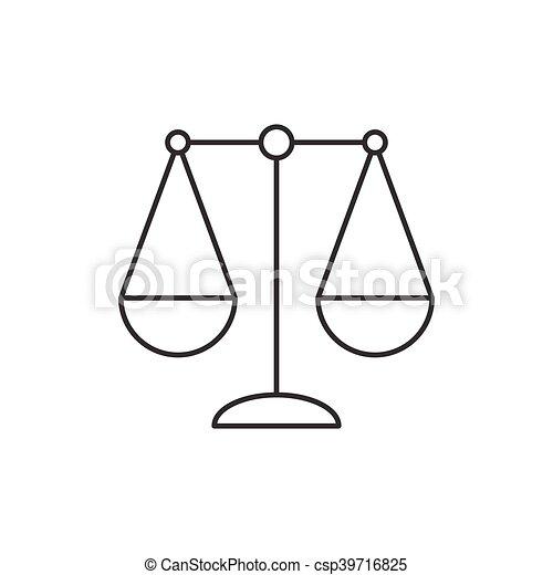 Segno Bilancia Thi Icona Zodiaco Equilibrio Bilancia