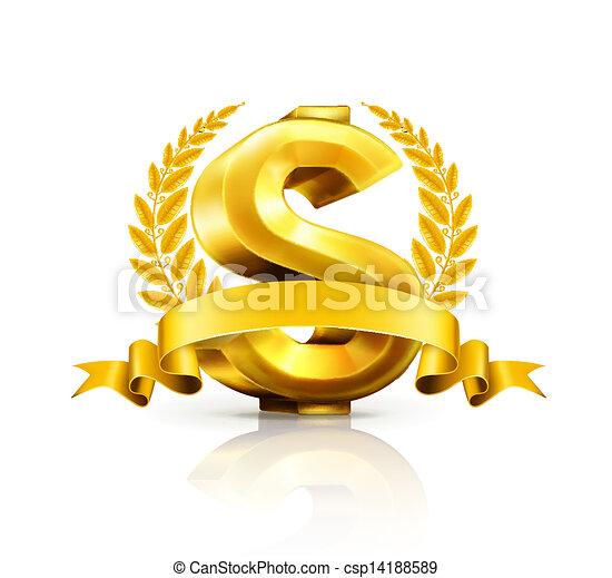 segno, dollaro, emblema - csp14188589