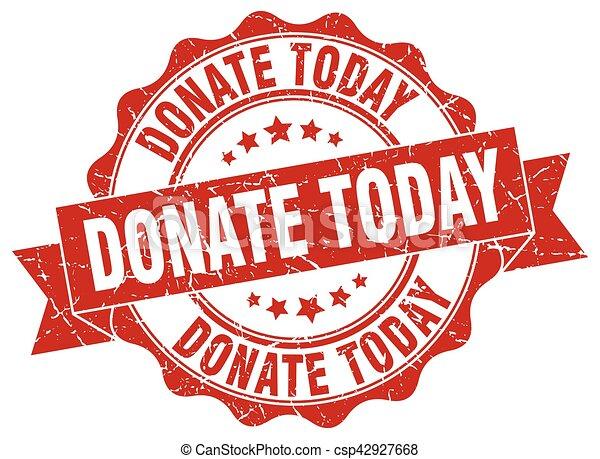 segno., donare, stamp., oggi, sigillo - csp42927668