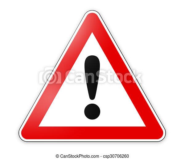 segno pericolo - csp30706260