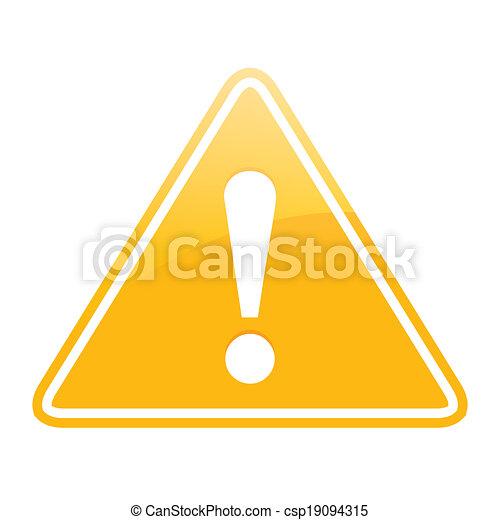 segno pericolo - csp19094315