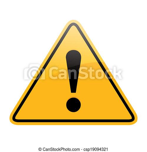 segno pericolo - csp19094321