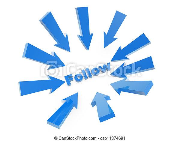 Sigue la flecha - csp11374691