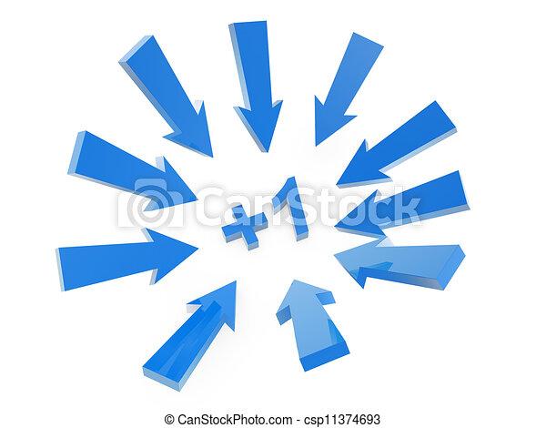 Sigue la flecha - csp11374693