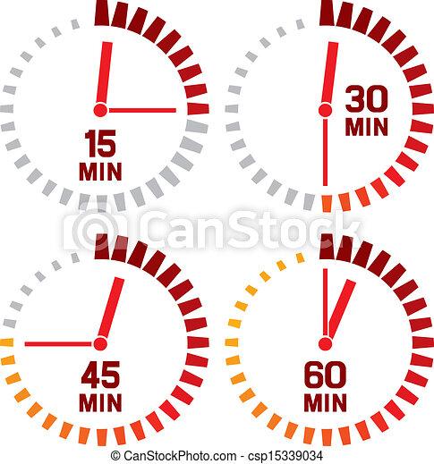 Relojes iconos - 15 segundos - csp15339034