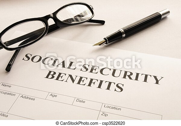 segurança, benefícios, social - csp3522620