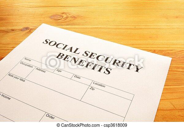 segurança, benefícios, social - csp3618009