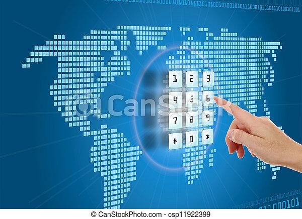 segurança, conceito, proteção, internet - csp11922399