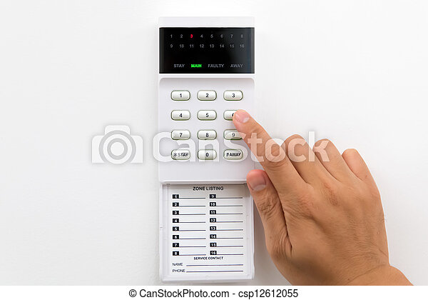 segurança lar, alarme - csp12612055