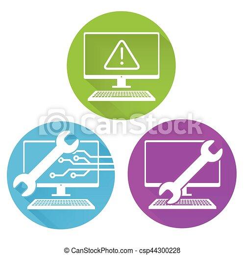 segurança, manutenção, ícone - csp44300228