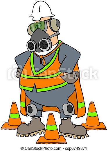 seguridad, hombre - csp6749371