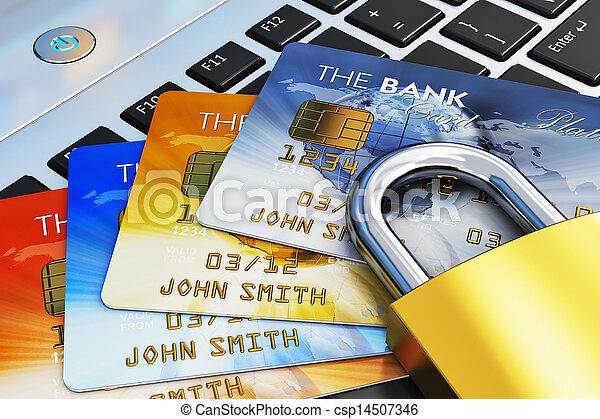 El concepto de seguridad bancaria móvil - csp14507346