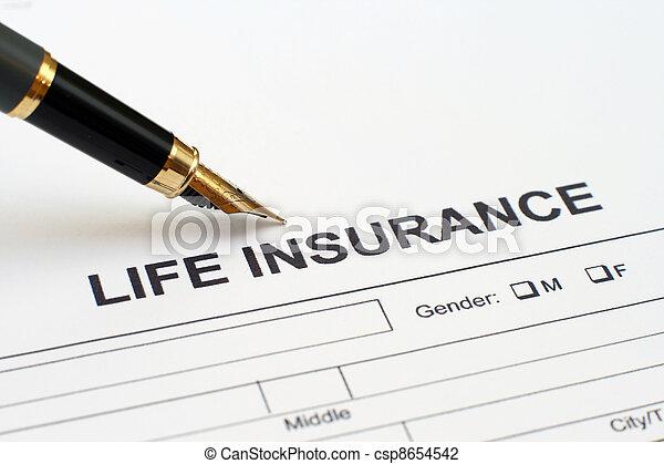 Seguro de vida - csp8654542