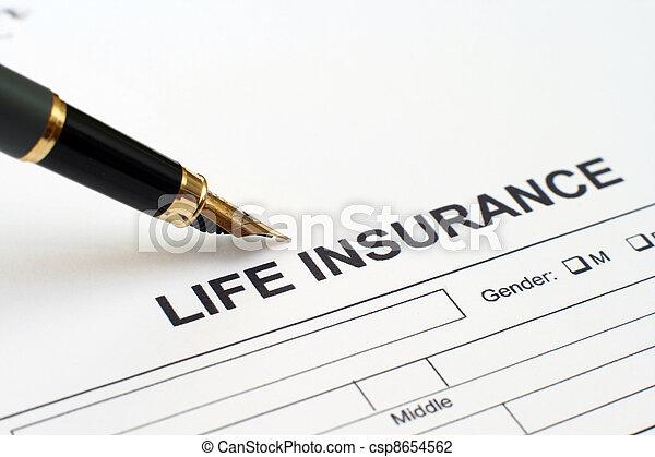 Seguro de vida - csp8654562