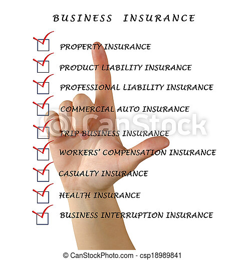 Seguro de negocios - csp18989841