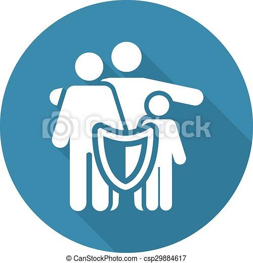 seguro, família, soluções - csp29884617