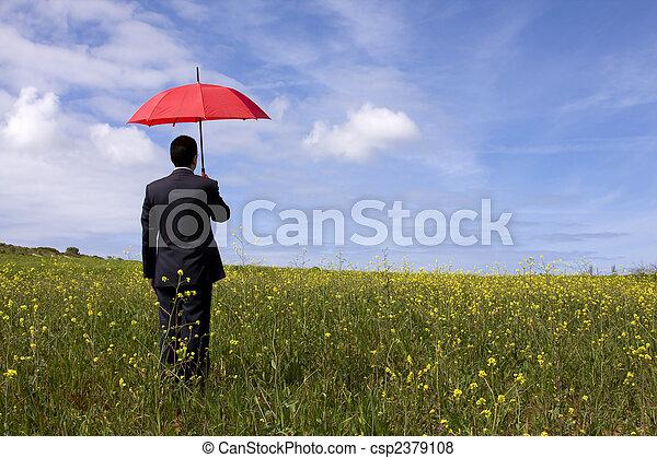 El hombre del seguro - csp2379108