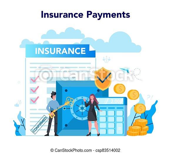 seguro, underwriter, concept., empresa / negocio, financiero, pago, caso - csp83514002