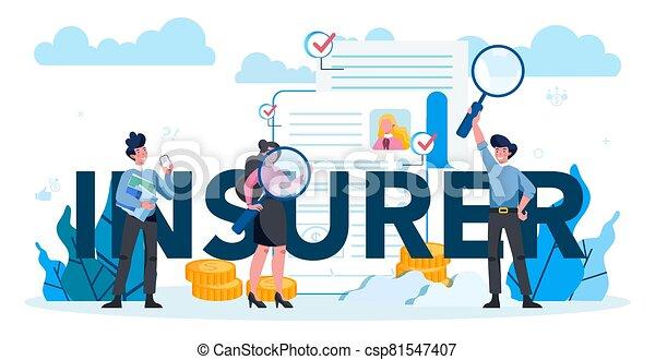 seguro, underwriter, tipográfico, empresa / negocio, encabezamiento, financiero, concept. - csp81547407