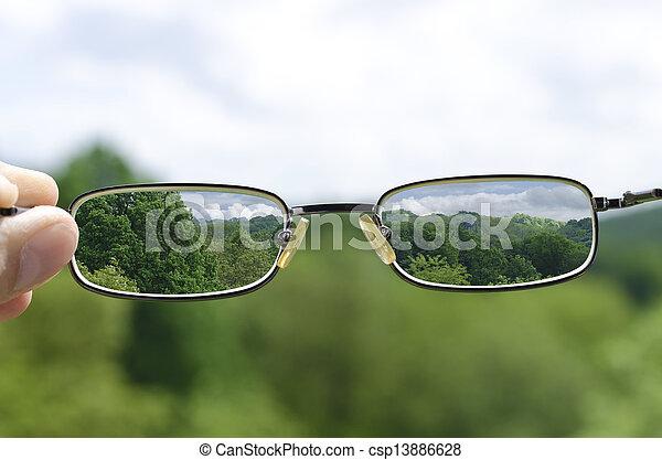 sehen, natur, durch, brille - csp13886628