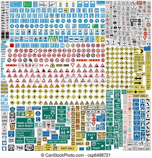 sei, traffico, europeo, segni, cento, paragonato a, più - csp6498721