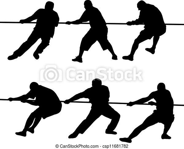 Leute ziehen Seile - csp11681782