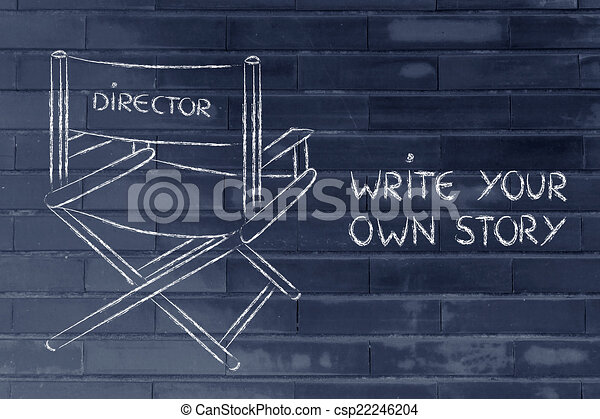 sein, eigen, g, direktor, träume, treffen, leben, dein, verfolgung - csp22246204