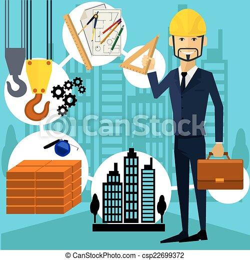 Suche Architekt seine arbeit arbeiter architekt erbauer ort seine vektoren