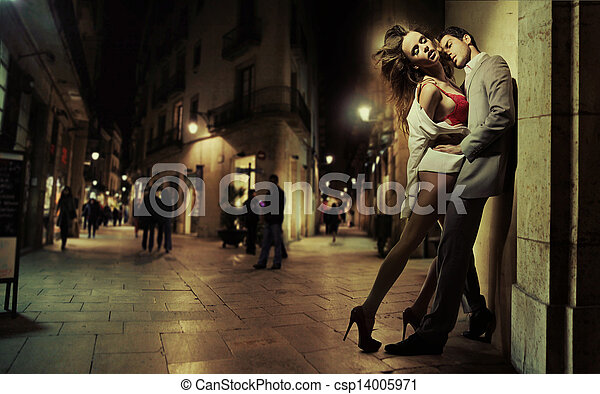 seine, kunst, foto, sexy, hübsch, dame, mann - csp14005971