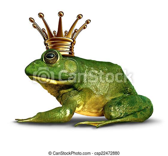 seite, prinz, frosch, ansicht - csp22472880