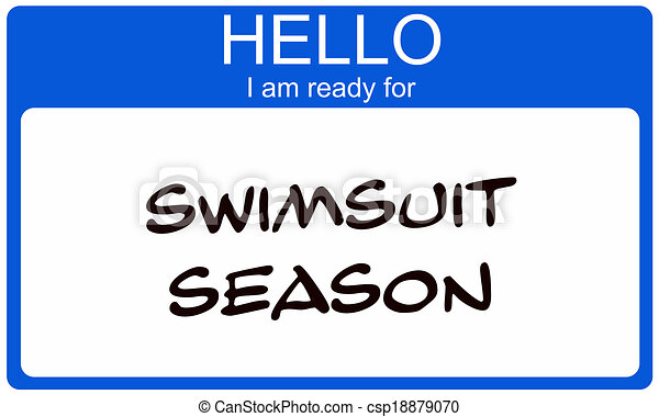 seizoen, nametag, badpak - csp18879070