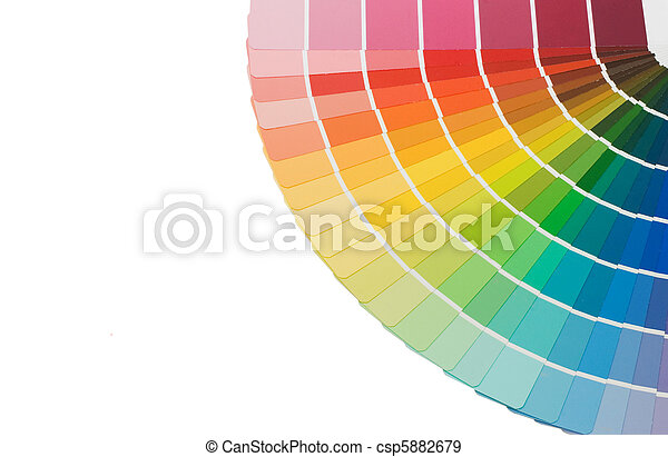selección, color, aislado, plano de fondo, blanco, guía - csp5882679