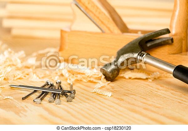selección, herramientas, carpintero - csp18230120