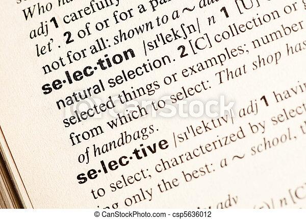 Palabra de selección - csp5636012