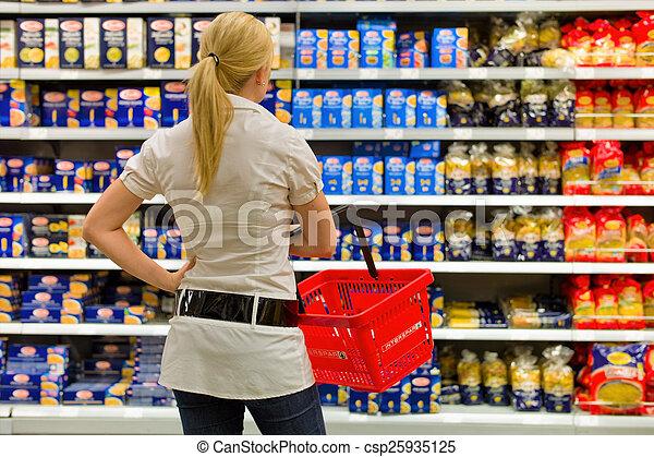 selección, supermercado - csp25935125