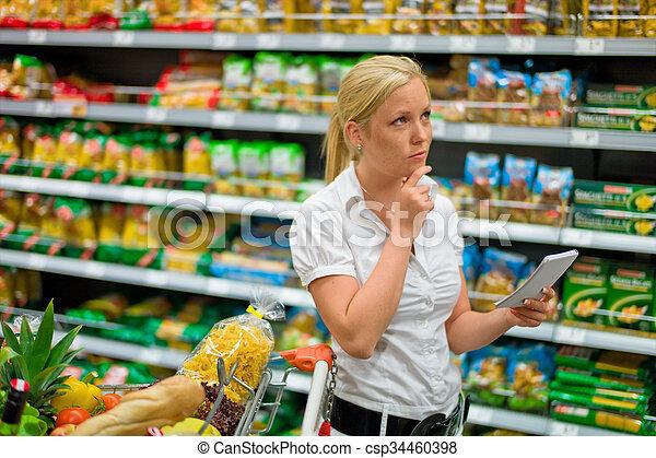 selección, supermercado - csp34460398